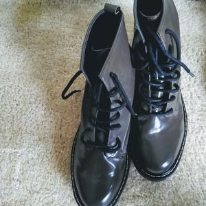 ZARA patent leather Boots size 39